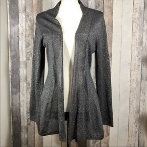 Coldwater Creek Open Weave Sparkle Cardigan XS